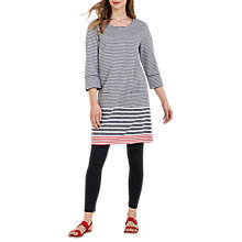 Buy Seasalt Folly Cove Stripe Dress, Race Day Fathom Online at johnlewis.com