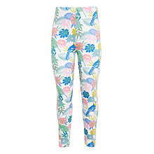 Buy John Lewis Girls' Tropical Print Leggings, White/Multi Online at johnlewis.com