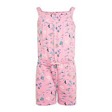 Buy John Lewis Girls' Object Playsuit, Bright Pink Online at johnlewis.com