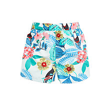Buy John Lewis Girls' Toucan Shorts, Aqua Online at johnlewis.com
