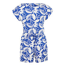 Buy John Lewis Girls' Tropical Print Playsuit, Deep Ultramarine Online at johnlewis.com