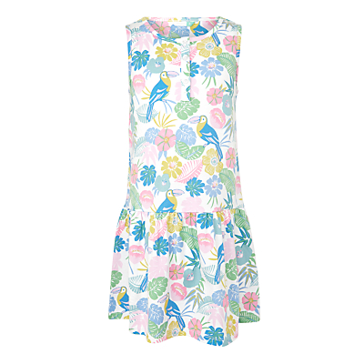 John Lewis Girls' Toucan Print Sleeveless Sun Dress, Multi