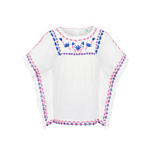 Buy John Lewis Girls' Embroidered Kaftan Top Online at johnlewis.com