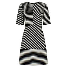 Buy Warehouse Ponte Dress, Black Stripe Online at johnlewis.com