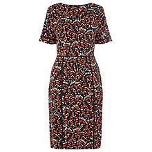 Buy Warehouse Tiger Moth V Back Dress, Multi Online at johnlewis.com