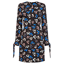 Buy Warehouse Dandy Flower Skater Dress, Black Pattern Online at johnlewis.com
