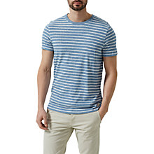 Buy Selected Homme Classic Stripe O-Neck T-Shirt, Forever Blue Online at johnlewis.com