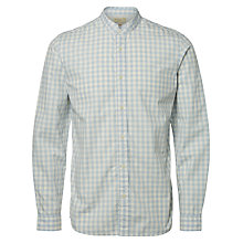 Buy Selected Homme Jacque Long Sleeve Check Shirt, Forever Blue/White Online at johnlewis.com