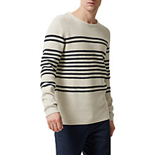 Buy Selected Homme Jonas Stripe Jumper Online at johnlewis.com