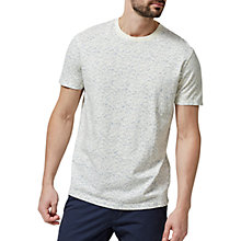 Buy Selected Homme Short Sleeve Print T-Shirt, Forever Blue/Papyrus Online at johnlewis.com