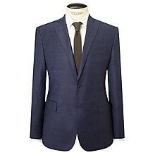 Buy J. Lindeberg Super 140s Wool Comfort Stretch Pindot Slim Suit Jacket, Cornflower Online at johnlewis.com