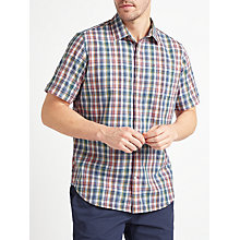 Buy John Lewis Mini Grid Check Short Sleeve Shirt, Multi Online at johnlewis.com