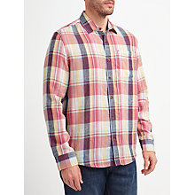 Buy John Lewis Large Scale Check Shirt, Red Online at johnlewis.com