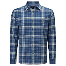 Buy John Lewis Cotton Check Long Sleeve Shirt, Blue Online at johnlewis.com
