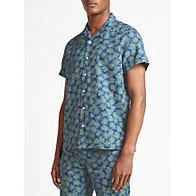 Buy Kin by John Lewis Arcea Print Short Sleeve Shirt, Green Online at johnlewis.com