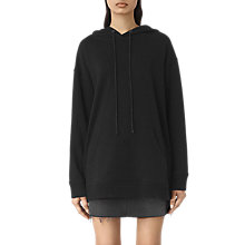 Buy AllSaints Nia Knit Hoody, Black Online at johnlewis.com