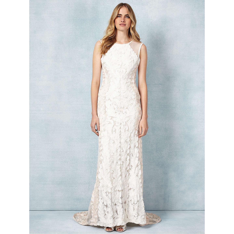 Phase Eight Bridal Cailyn Wedding Dress, Bridal Blush/Cream at John ...