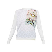 Buy Ted Baker Belie Gem Gardens Woven Front Jumper, Ivory Online at johnlewis.com
