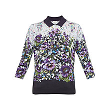 Buy Ted Baker Enchantment Printed Jumper, Dark Blue Online at johnlewis.com