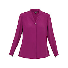 Buy Ted Baker Eliza V-Neck Blouse, Grape Online at johnlewis.com