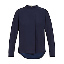 Buy Ted Baker Glitaa Drape Front Top, Dark Blue Online at johnlewis.com