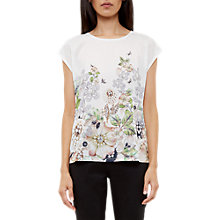 Buy Ted Baker Taysae Gem Gardens Crew Neck T-Shirt, Ivory Online at johnlewis.com