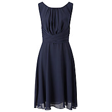 Buy Phase Eight Marti Chiffon Dress, Navy Online at johnlewis.com