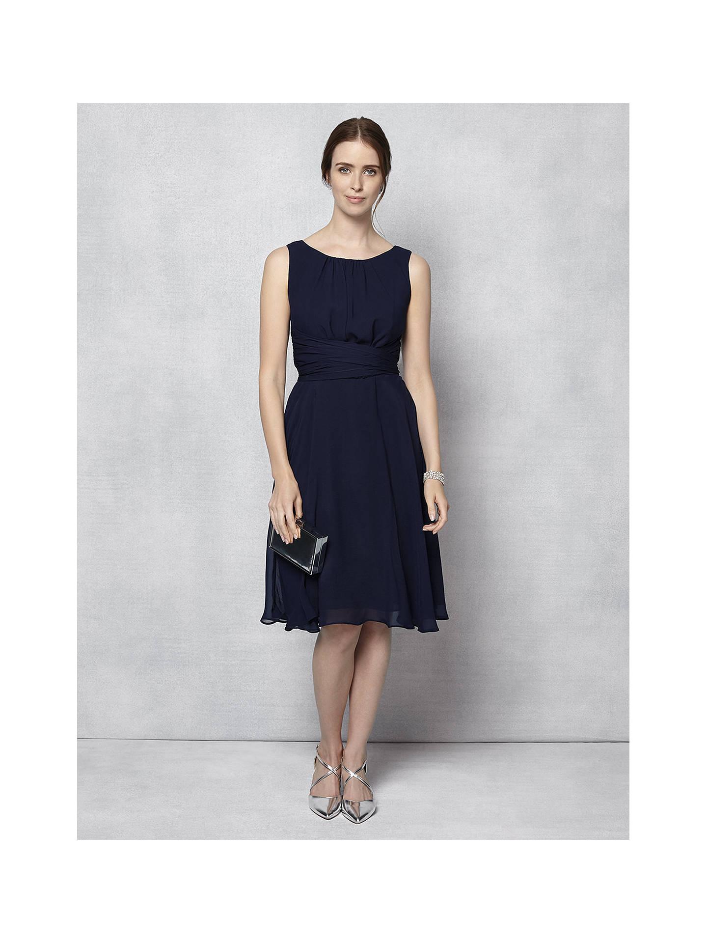 Phase Eight Marti Chiffon Dress Navy