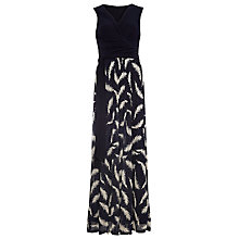 Buy Phase Eight Domenika Feather Lace Maxi Dress, Navy Online at johnlewis.com