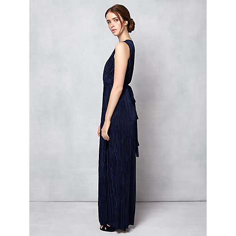 Buy Phase Eight Camilla Pleated Maxi Dress, Navy Online at johnlewis.com