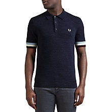 Buy Fred Perry Striped Sleeve Polo Shirt, Navy Marl Online at johnlewis.com