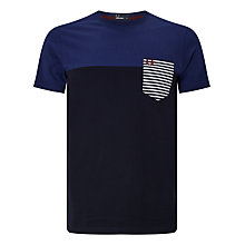 Buy Fred Perry Striped Pocket T-Shirt, French Navy Online at johnlewis.com