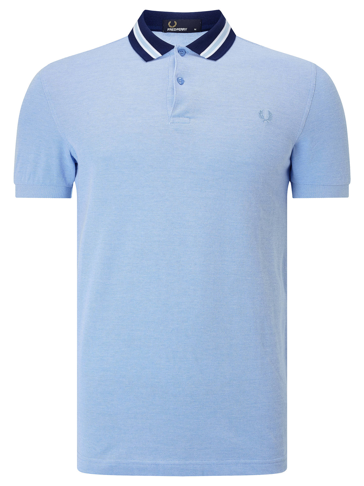 cef9ff03 Buy Fred Perry Oxford Polo Shirt, Light Smoke, S Online at johnlewis.com ...