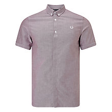 Buy Fred Perry Short Sleeve Classic Oxford Shirt, Rosewood Online at johnlewis.com