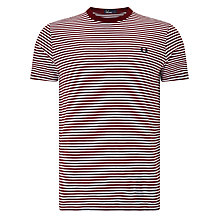 Buy Fred Perry Fine Stripe Crew Neck T-Shirt Online at johnlewis.com