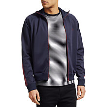 Buy Fred Perry Full Zip Sweatshirt, Carbon Blue Online at johnlewis.com