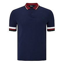 Buy Fred Perry Full Stripe Cuff Polo Shirt, Carbon Blue Online at johnlewis.com