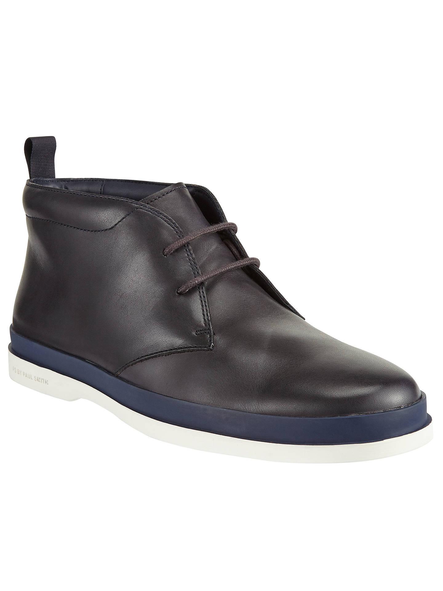 5e6f302e669 Paul Smith Inkie Chukka Boots, Navy at John Lewis & Partners