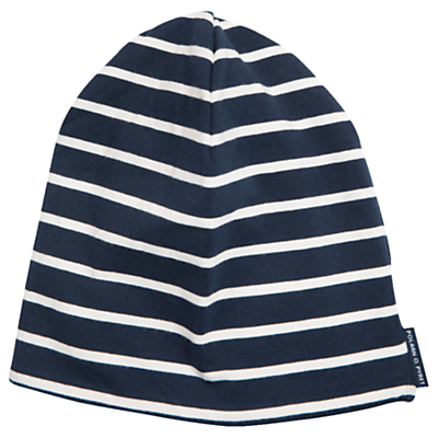 Polarn O. Pyret Children's Striped Hat, Blue