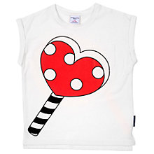 Buy Polarn O. Pyret Girls Lollipop Top, White Online at johnlewis.com