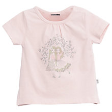 Buy Wheat Baby Floral Friends T-Shirt, Coral Pink Online at johnlewis.com