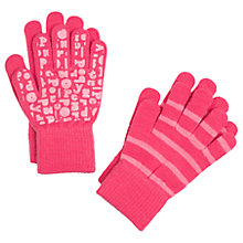 Buy Polarn O. Pyret Children's Magic Gloves, Pack of 2, Pink Online at johnlewis.com