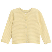 Buy Wheat Baby Knitted Betty Cardigan, Straw Online at johnlewis.com