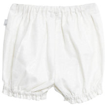 Buy Wheat Baby Glitter Woven Shorts, White Online at johnlewis.com