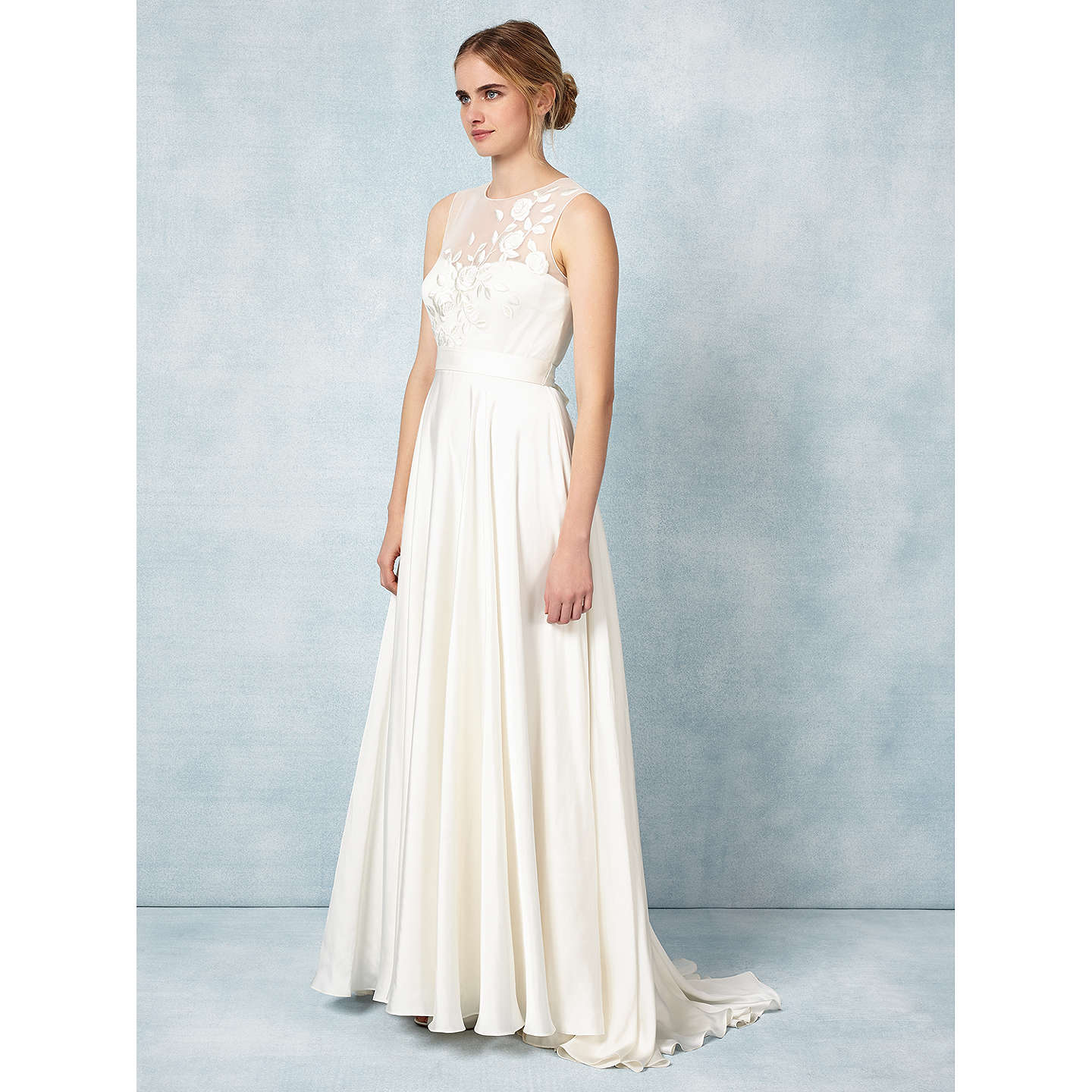 Phase Eight Bridal Clarabella Wedding Dress, Cream at John Lewis