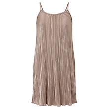 Buy John Lewis Children's Plisse Slip Dress, Pink Online at johnlewis.com