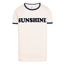 Buy John Lewis Girls' Sunshine T-Shirt, Pale Dusky Pink Online at johnlewis.com