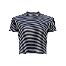 Buy John Lewis Girls' Stripe Turtleneck Top, Navy Online at johnlewis.com