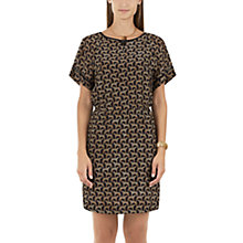 Buy Marc Cain Cheetah Print Silk Dress, Brown Online at johnlewis.com