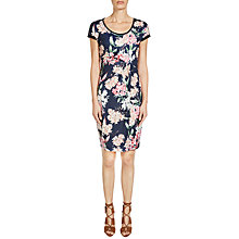Buy Oui Floral Printed Dress, Night Sky Online at johnlewis.com